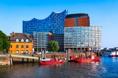 Speicherstadt district in Hamburg city, Germany royalty free stock photo