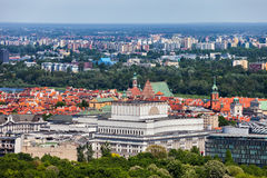 City of Warsaw Cityscape in Poland Royalty Free Stock Photos