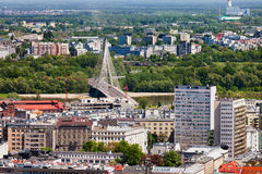 City of Warsaw Cityscape in Poland Stock Photo