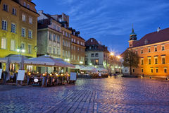 City of Warsaw in the Evening Stock Images