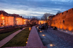 City of Warsaw in the Evening Royalty Free Stock Photography