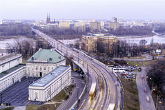 City of Warsaw Poland cityscape Royalty Free Stock Image