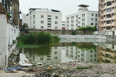 City Wasteland. Inner City Wasteland in Bangkok Royalty Free Stock Image