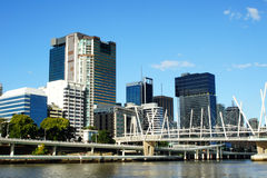 City on the water. Brisbane city from the water. Queensland Australia Royalty Free Stock Images