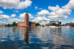 City on the water, Stockholm Royalty Free Stock Photography