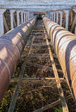 City water supply pipes. Royalty Free Stock Photo