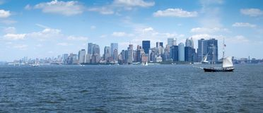 City at waterfront, Manhattan, New York City, New York State, US Stock Image
