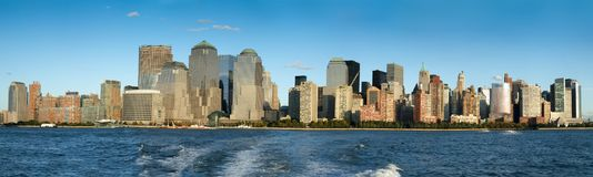 City at waterfront, Manhattan, New York City, New York State, US Royalty Free Stock Photos
