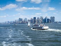 City at the waterfront, Manhattan, New York City, New York State Royalty Free Stock Photos