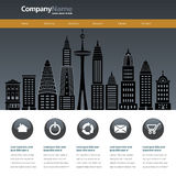 City web site design template Royalty Free Stock Photo