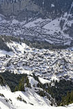 City of Wengen and Lauterbrunnen valley Stock Photo