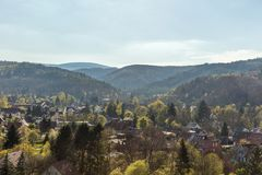 City of Wernigerode in the Harz mountains Stock Images