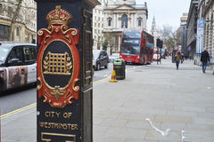 City of Westminster lightpost Royalty Free Stock Photography