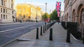 Main road leading to big ben london england stock photo