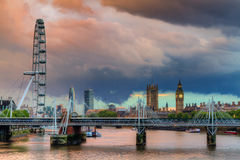 City of Westminster during a thunderstorm Stock Photography