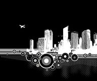 City on white background. Vector Royalty Free Stock Images