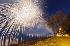 City of White Rock Firework Finale Stock Photos