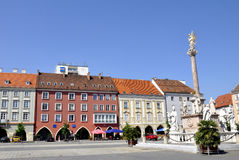City of Wiener Neustadt. Main square in the austrian city of Wiener Neustadt Royalty Free Stock Images