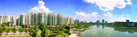 The city wiew. This is a city wiew of Zhongsahan City Royalty Free Stock Images