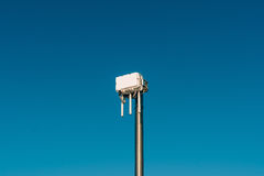 City wifi router. The street transmitter of the Internet signal. Stock Photos
