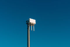 City wifi router. The street transmitter of the Internet signal. Royalty Free Stock Photos