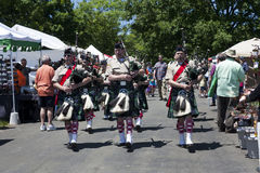 City of Winchester Pipes and Drums performing at the Delaplane Strawberry Festival in Delaplane, Virginia Royalty Free Stock Photos