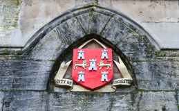 City of Winchester seal on building royalty free stock images