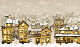 City in the winter days Royalty Free Stock Photography