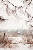 City winter landscape Royalty Free Stock Images