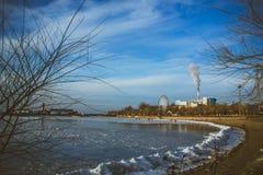 The city of winter sea Stock Photos