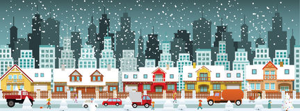 City in winter Stock Images
