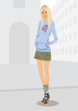 City woman stock illustration