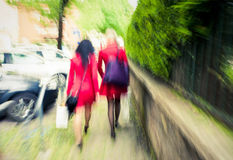 City women in red Royalty Free Stock Image