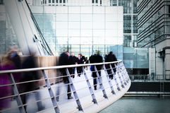 City Workers. Business people are goint to work.(Canary Wharf, London royalty free stock image