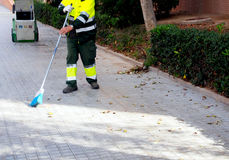 City workers - cleaning the streets Royalty Free Stock Photos