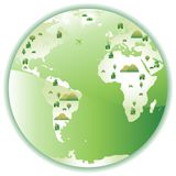 City World Green Royalty Free Stock Photography