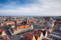 City of Wroclaw Old Town Market Square Stock Image