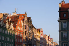 City of Wroclaw Old Town Skyline at Sunset Royalty Free Stock Image
