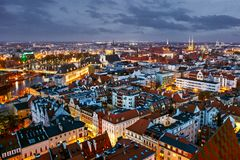 City of Wroclaw in Poland, Old Town Market Square from above. stock photography