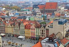 City of Wroclaw, Poland - panorama royalty free stock photo