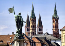 City of Wuerzburg, Bavaria Royalty Free Stock Photography