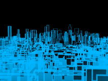 City, xray transparent Stock Image
