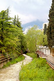 City Yalta, small river Waterfall Stock Images