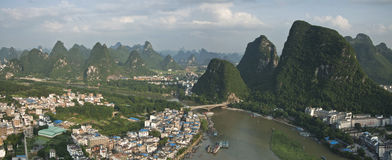 The city of yangshuo,guangxi province Royalty Free Stock Photos