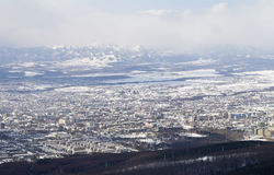 City of Yuzhno-Sakhalinsk Royalty Free Stock Photo