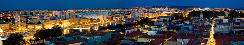City of Zadar aerial panorama Stock Images