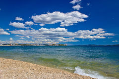 City of Zadar beach view Royalty Free Stock Photography