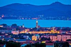City of Zadar evening skyline Stock Photos