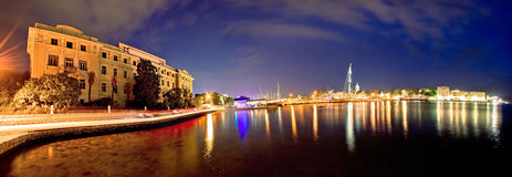 City of Zadar marina evening view Royalty Free Stock Image