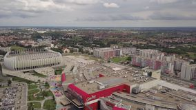 City of Zagreb Croatia from the sky stock video footage
